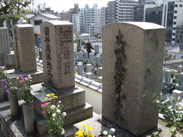 源聖寺坂(天王寺七坂)齢延寺内、藤沢東畡の墓