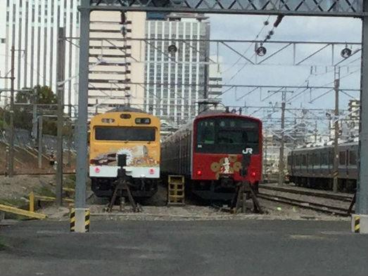 JR大阪環状線「真田丸」ラッピング電車・森ノ宮車庫