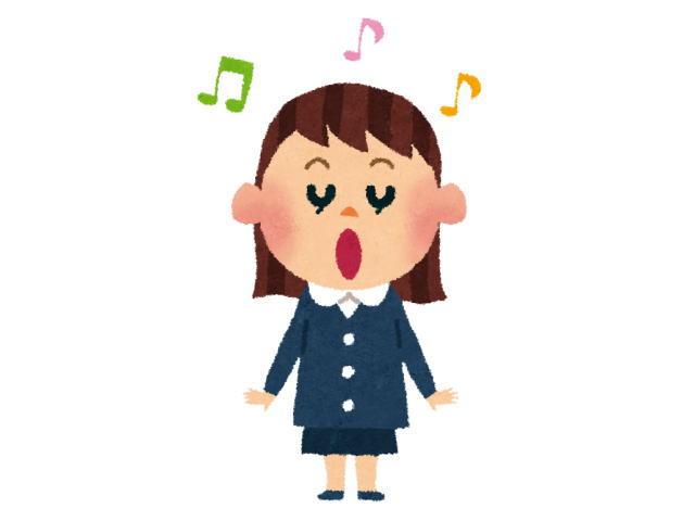 子供が幼稚園で大きな声で歌を歌っている様子