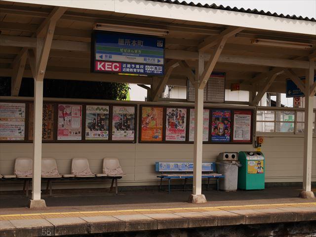 京阪電車「膳所本町駅」ホーム