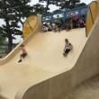 浜寺公園「北児童遊技場」角度のある滑り台