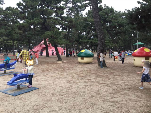 浜寺公園「南児童遊技場」全体の様子