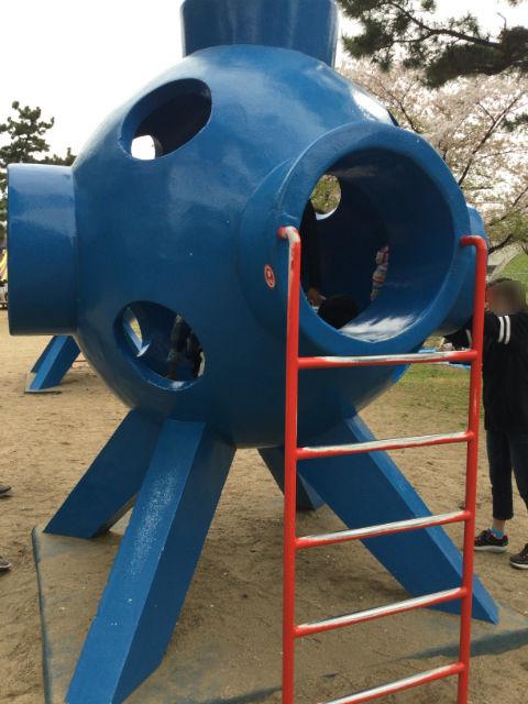 浜寺公園「南児童遊技場」輪のトンネル