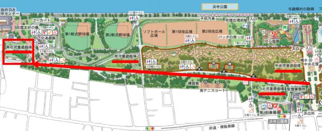 浜寺公園「高石児童遊技場」マップ