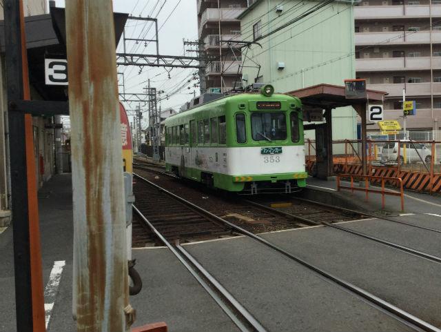 阪堺電車「あびこ道駅」ホーム