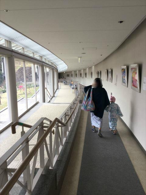 「ホテル近鉄アクアヴィラ伊勢志摩」から温水プール&温泉に向かう道