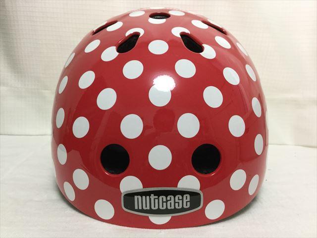 「ナットケース(NATCASE)」子供用自転車ヘルメット(シミミニドッツ)正面