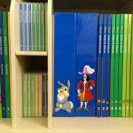 「DWE(ディズニー英語システム)」本棚、ブックとCD
