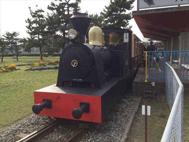 浜寺公園の汽車「浪速号」