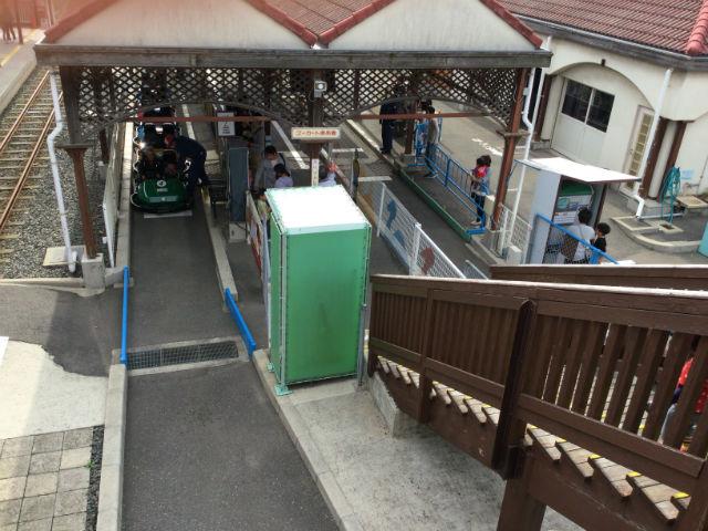 浜寺公園内のゴーカート乗り場
