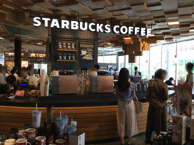 枚方T-SITE3階、スターバックスコーヒー