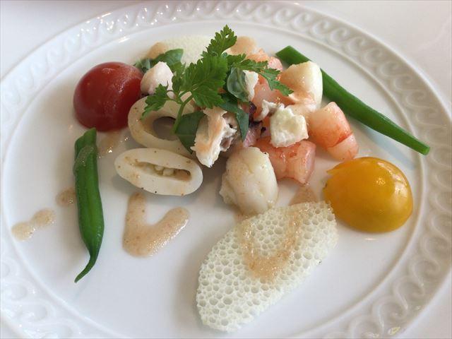 和歌山マリーナシティホテルの夕食イタリア料理フルコースの一品