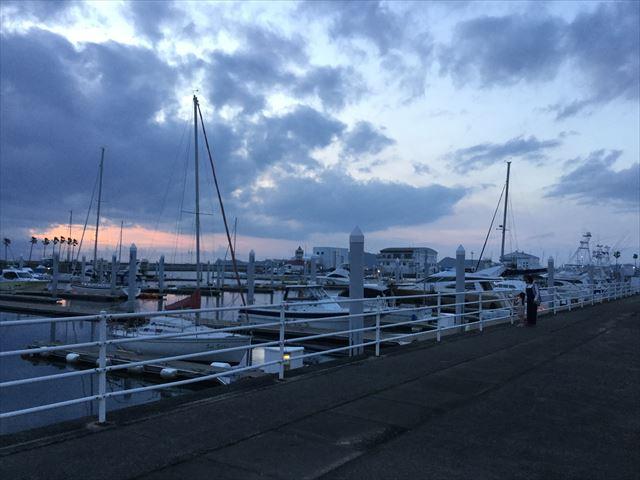 和歌山マリーナシティホテルのサンセットと海
