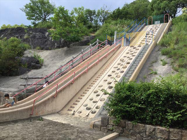 「あらかし公園」の巨大滑り台