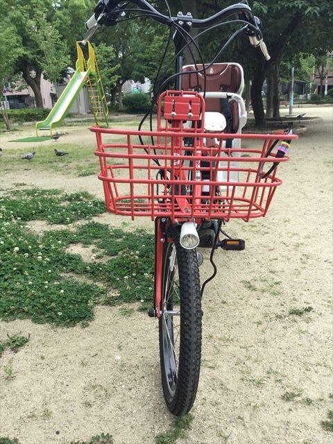 ブリジストン子供乗せ電動アシスト自転車「ビッケ2e(bikke2e)」レッド、フロント