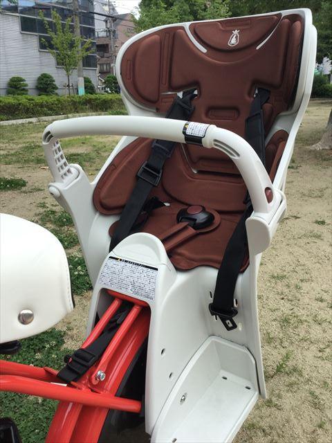 ブリジストン子供乗せ電動アシスト自転車「ビッケ2e(bikke2e)」後方チャイルド席