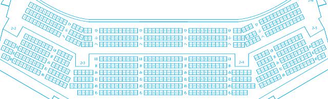 「和歌山県民文化会館大ホール」2階座席図