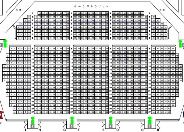 天童市民文化会館ホール座席表