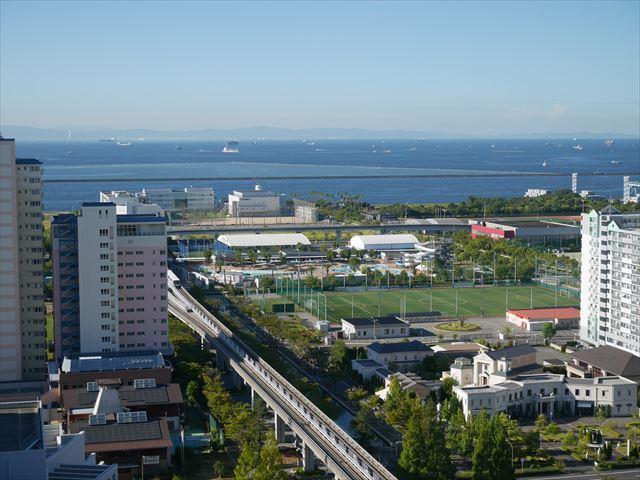 「神戸ベイシェラトンホテル&タワーズ」高層階の海側の眺め