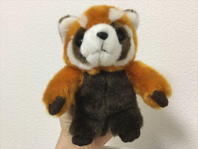 「神戸どうぶつ王国」で買ったレッサーパンダのぬいぐるみ