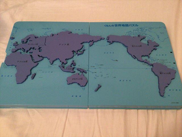 くもん「世界地図パズル」州別パズル完成