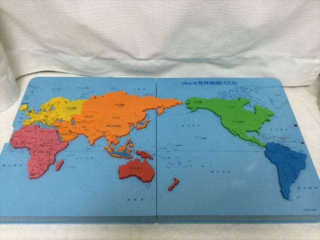 くもん「世界地図パズル」完成図