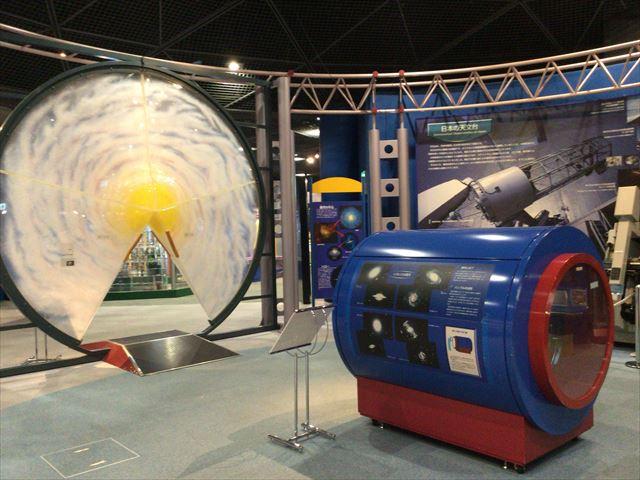 大阪市立科学館、4階展示場、銀河系の模型