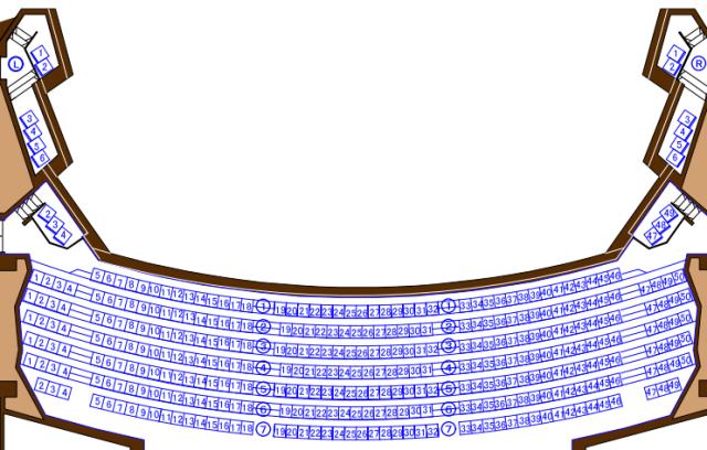 「刈谷市総合文化センター」大ホール2階席