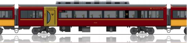 京阪特急の指定席「プレミアムカー」側面のデザイン