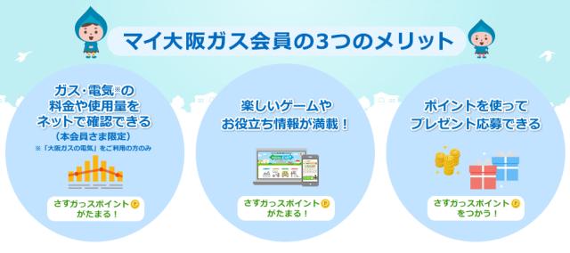 マイ大阪ガスの3つのメリット