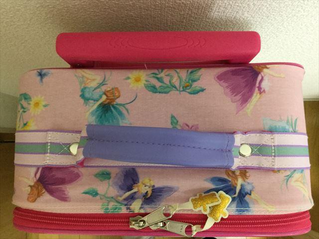 フェフェ(fafa)のキャリーバッグ、ピンクフェアリー、上から撮影