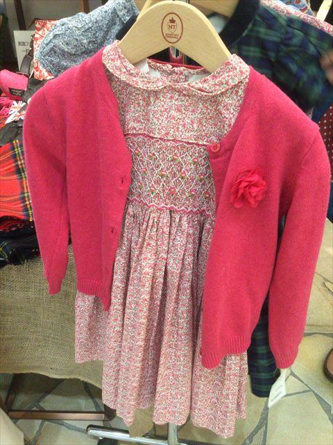 阪急百貨店うめだ本店「英国フェア2016」リバティ柄の子供服