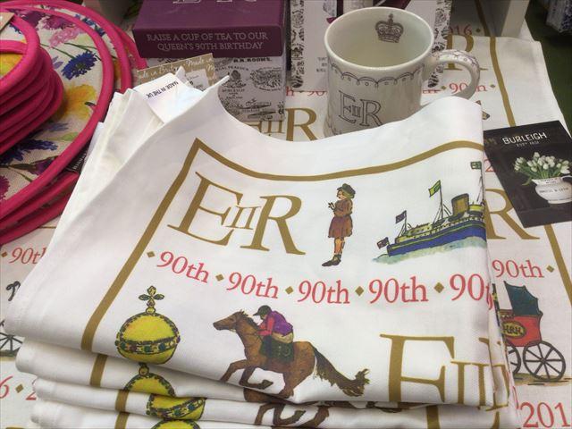 阪急百貨店うめだ本店「英国フェア2016」エリザベス女王90周辺記念マグカップ