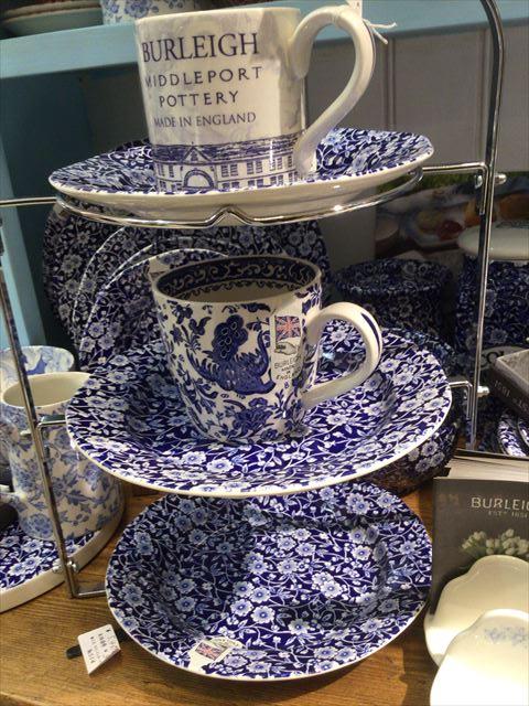 阪急百貨店うめだ本店「英国フェア2016」バーレイのマグカップやアフタヌーンティ用のお皿