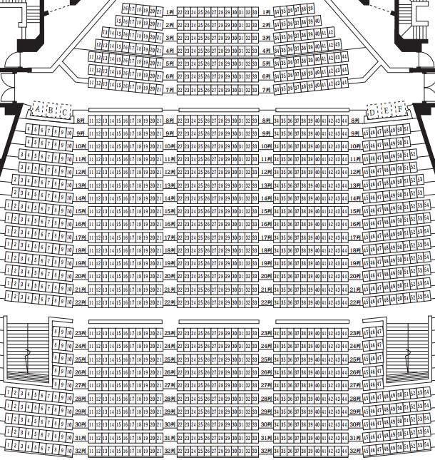 「イズミティ21」大ホール座席表