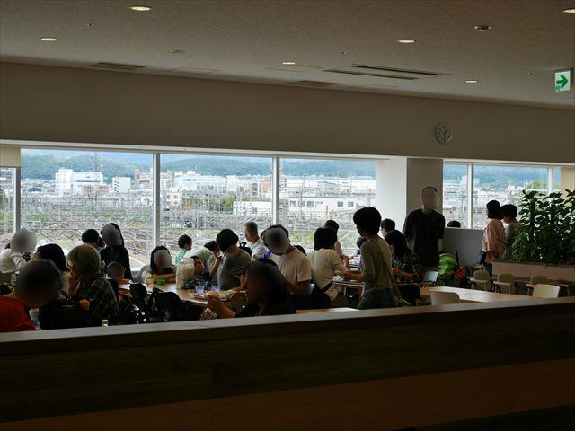 「京都鉄道博物館」レストランから見える景色