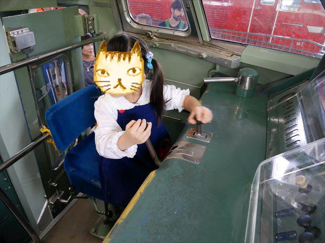 京都鉄道博物館」展示、新幹線0系の運転席