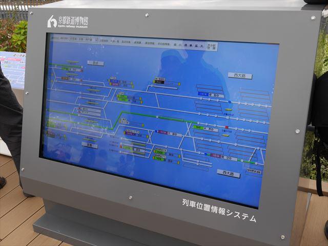 京都鉄道博物館の屋上、列車位置情報システム