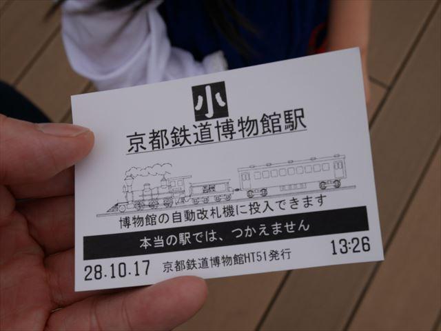 京都鉄道博物館、専用の切符