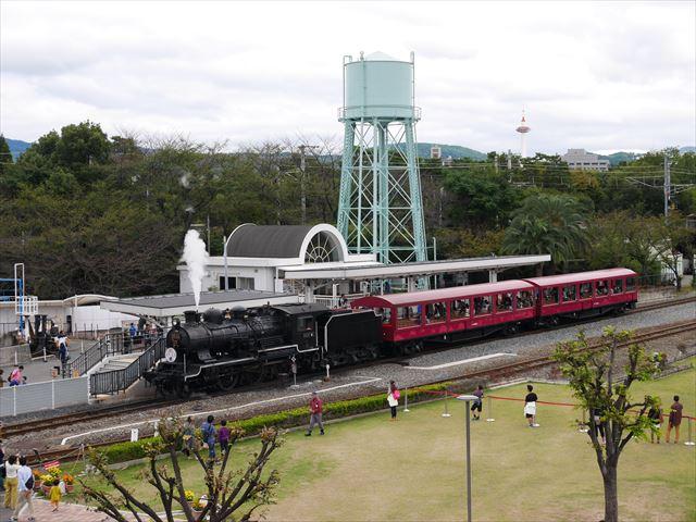 京都鉄道博物館、扇形車庫、SLひろば