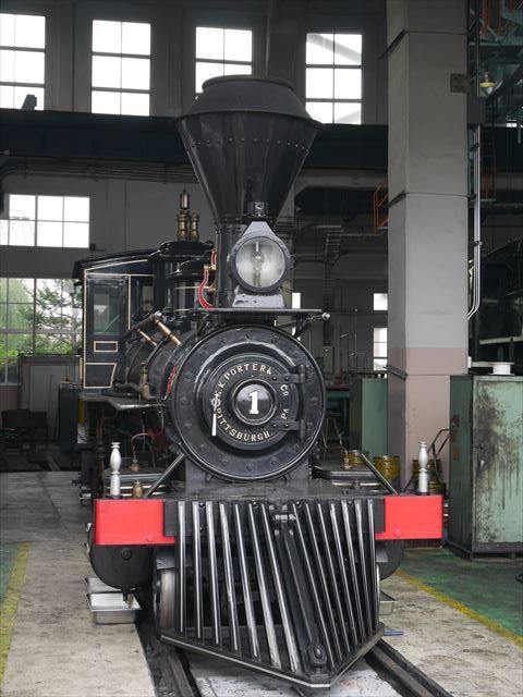 京都鉄道博物館、アメリカのピッツバーグHKポーター社から輸入された義経号
