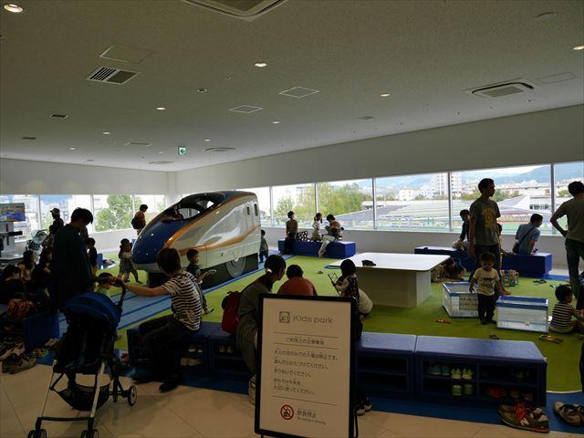 京都鉄道博物館、キッズパークの様子