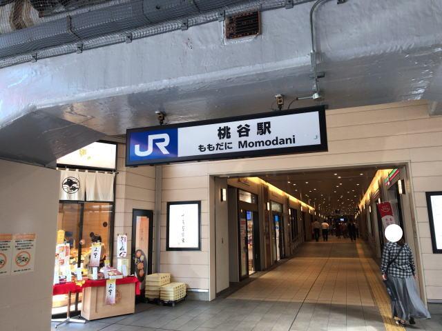 JR桃谷駅南口から見た駅ナカの様子