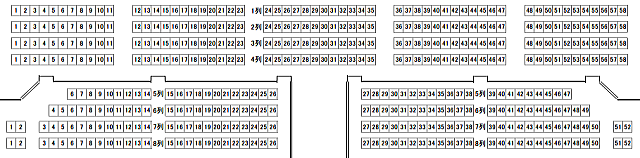 「静岡市民文化会館」大ホール2階座席表