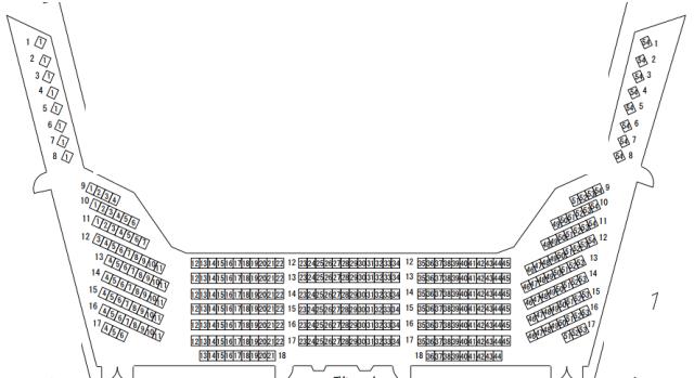 福岡サンパレスホール2階席座席表