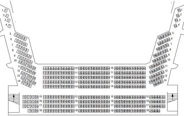 福岡サンパレスホール3階席座席表