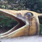 平成榛原子供のもり公園「恐竜の国」恐竜の顔をした入口