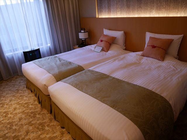 京都ブライトンホテル「ルームen(えん)」ベッドルーム