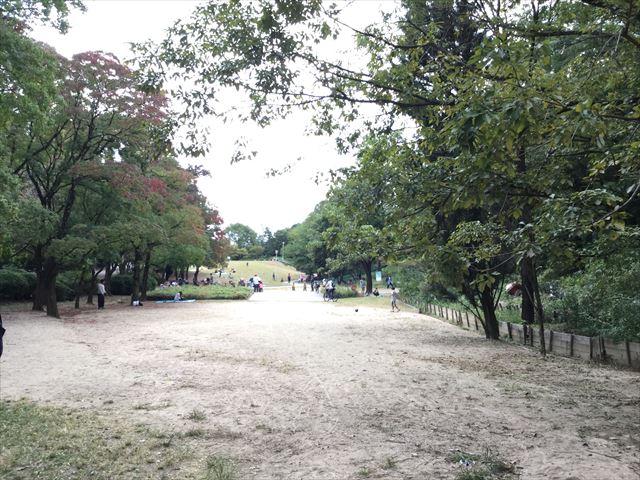 「千里中央公園」手前