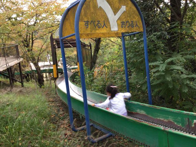 千里東町公園のロングスライダー枝分かれ
